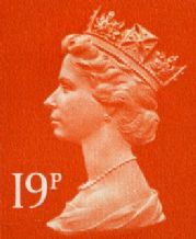19p Cheap GB Postage Stamp